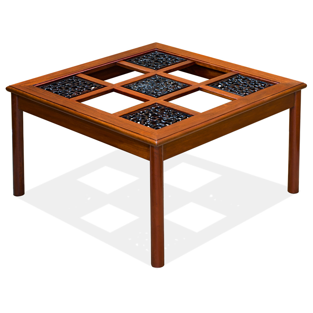 Rosewood Ming Style Square Coffee Table