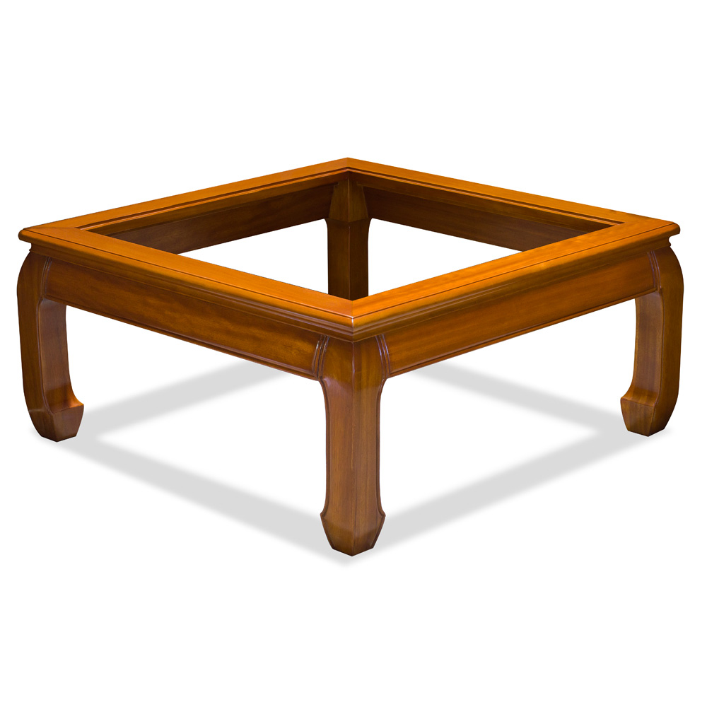 Natural Finish Rosewood Ming Square Coffee Table