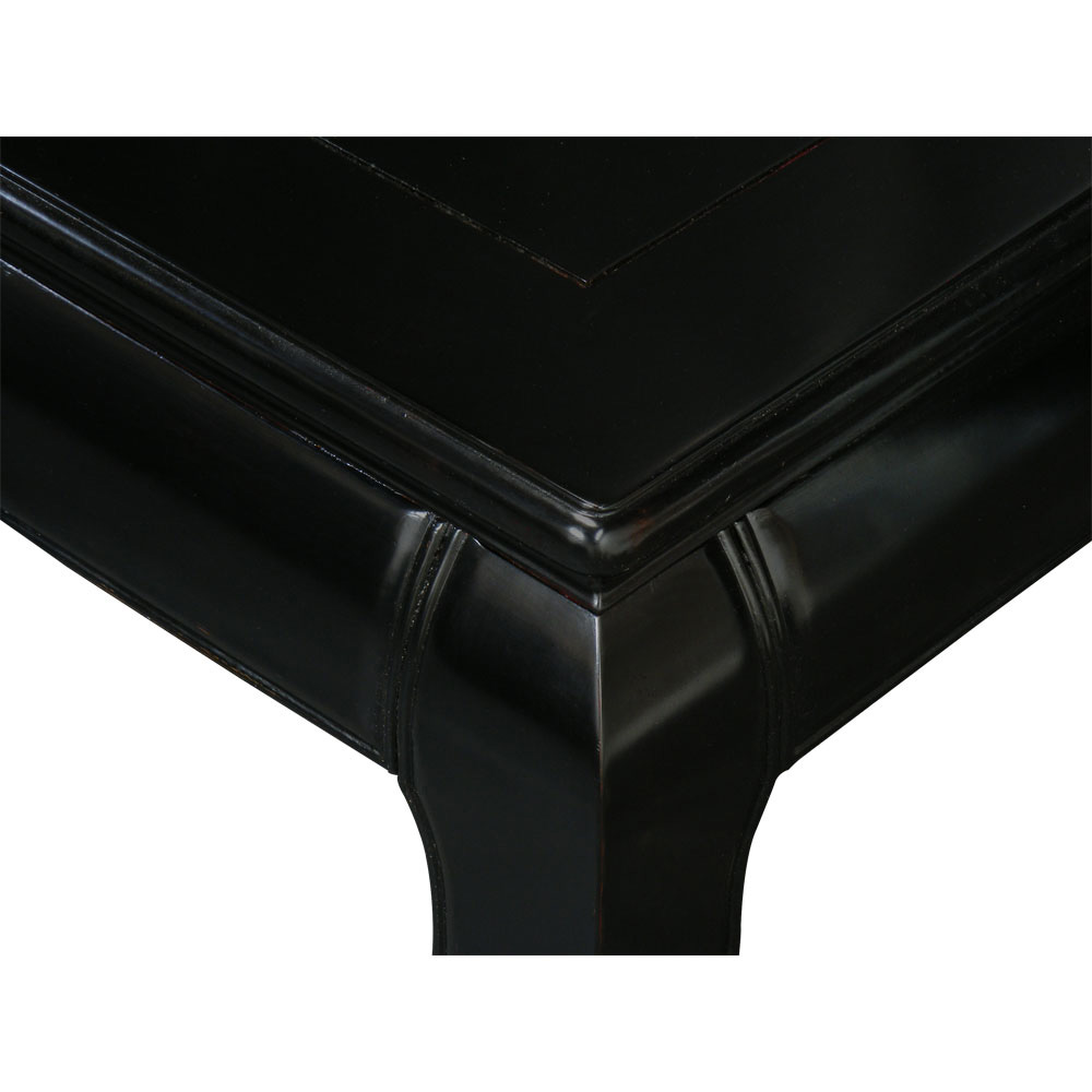Black Rosewood Ming Square Asian Coffee Table