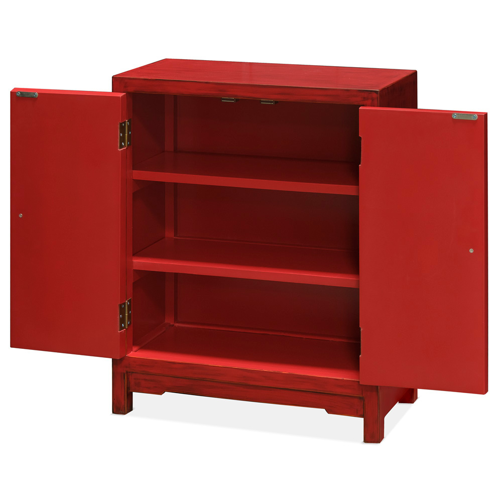 Elmwood Red Ming Cabinet