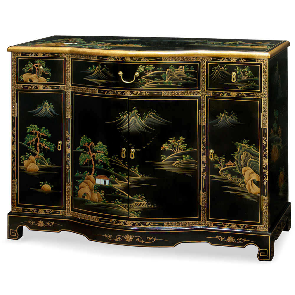 Chinoiserie Scenery Console Cabinet