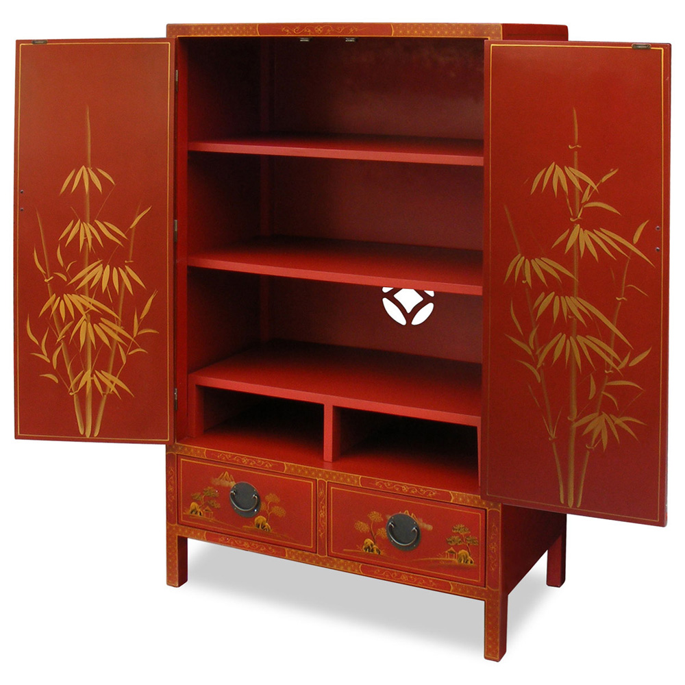 Amazing photo of Chinoiserie Scenery Design TV Armoire with #892613 color and 1200x1200 pixels