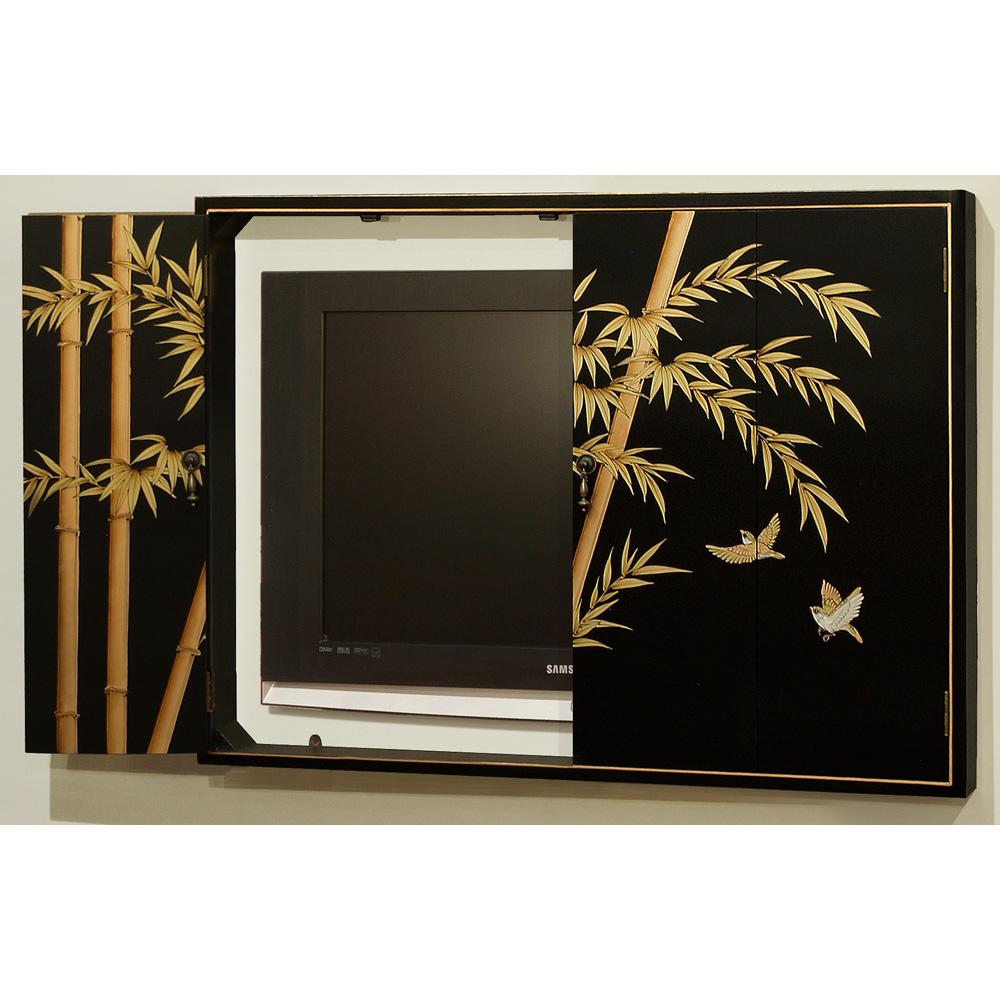 Bamboo Design Wall Tv Cabinet