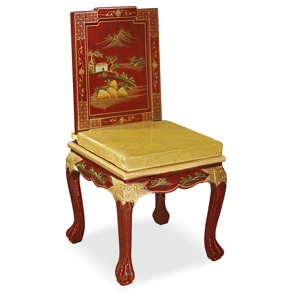 Chinoiserie Scenery Harpsichord Style Desk Set