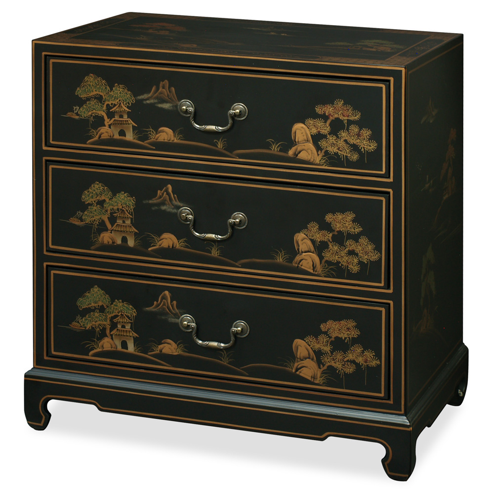 Chinoiserie scenery design cabinet for Chinese furnishings