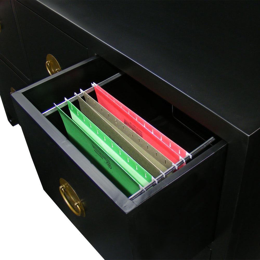 Black Elmwood Ming Design 6 Drawer File Cabinet