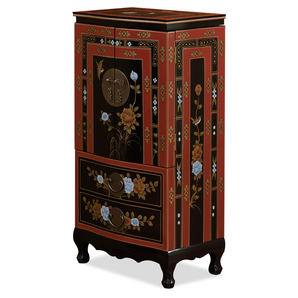 Tibetan Flower Jewelry Armoire