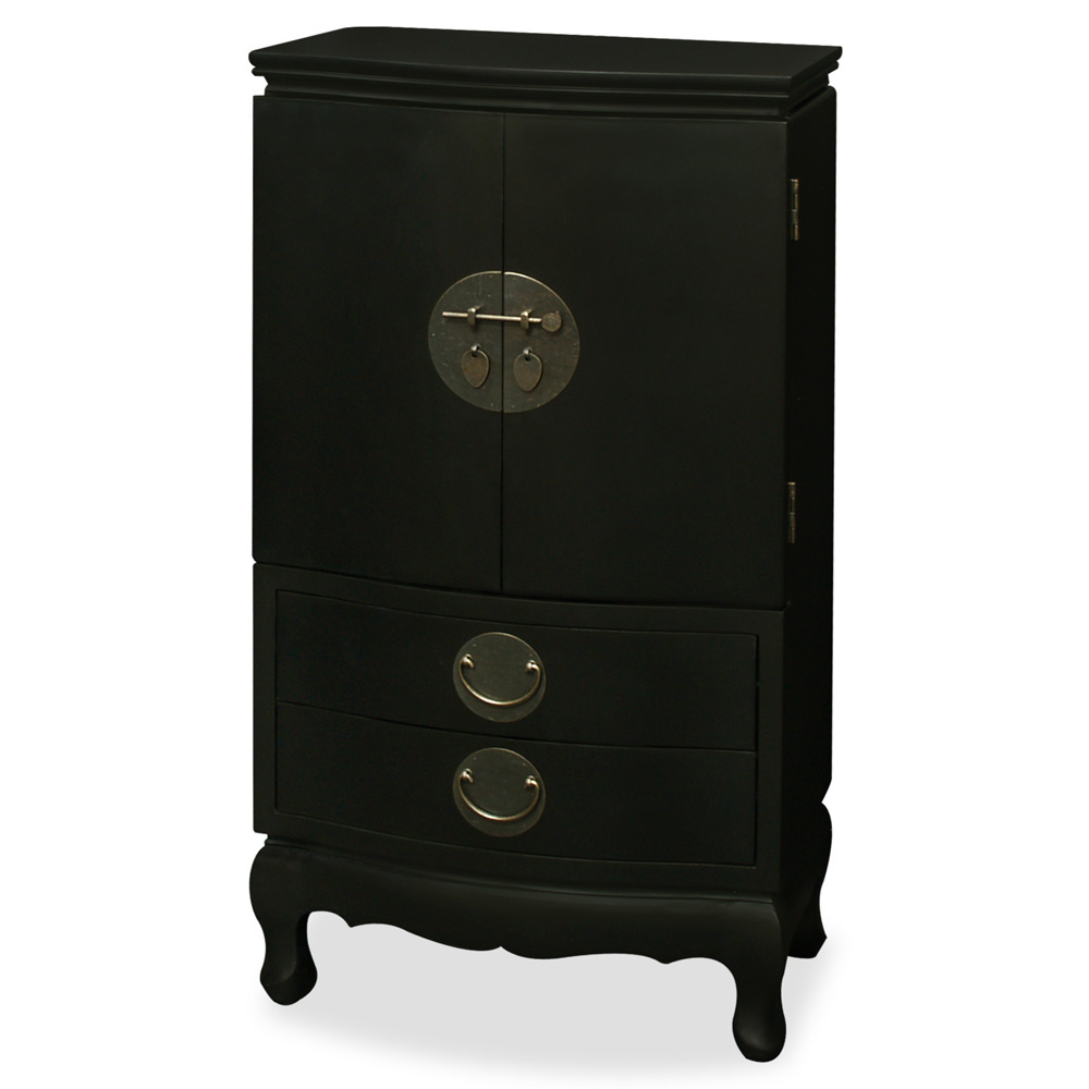 Black Ming Style Jewelry Armoire