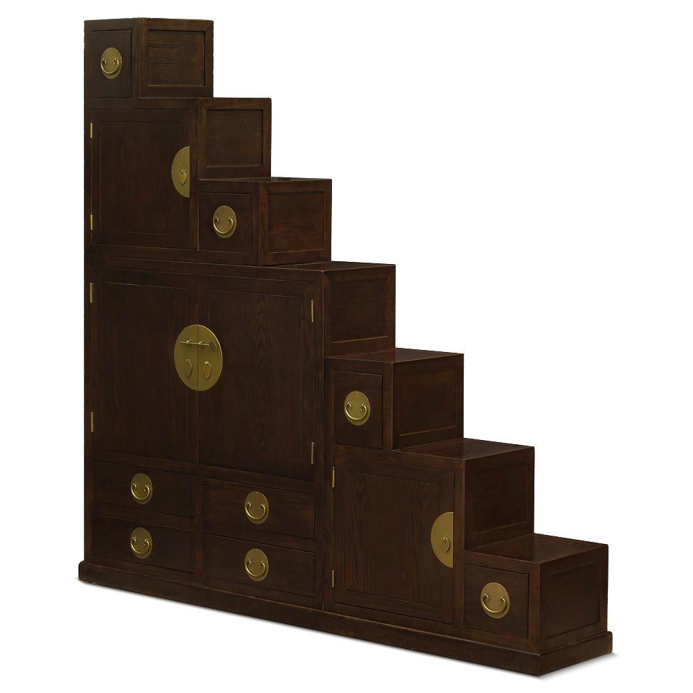 Elmwood Ming Style Step Tansu Chest