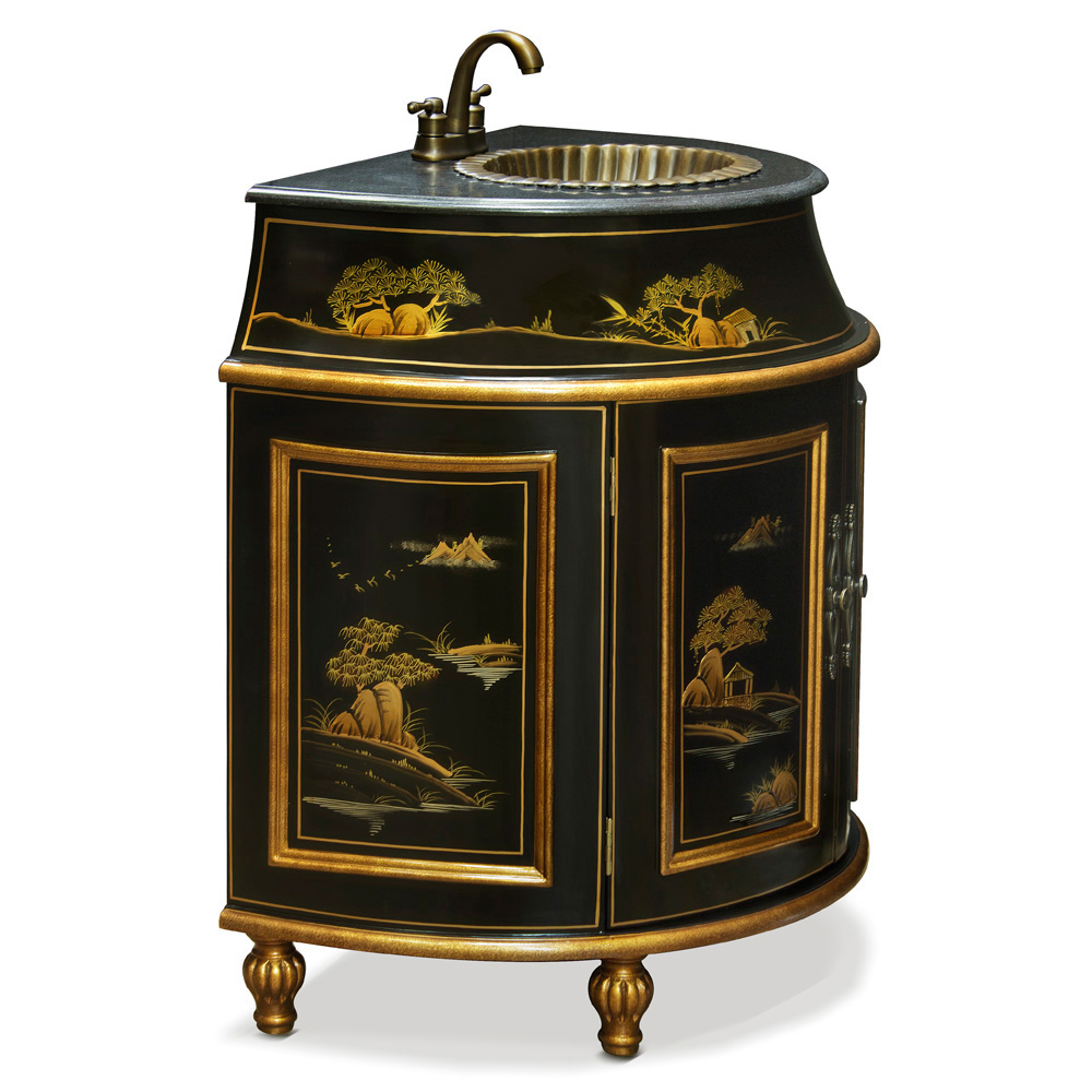 French Commode Vanity Cabinet