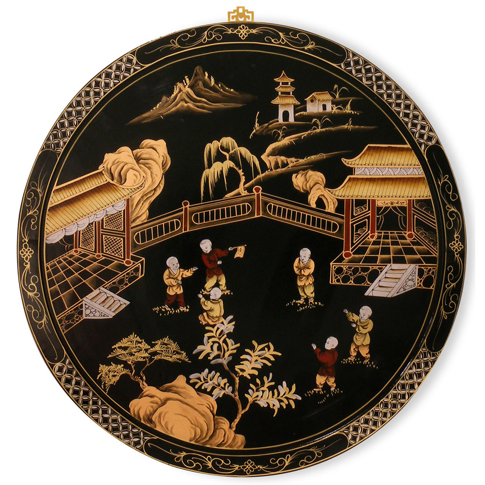 Chinoiserie design wall plaque for Chinoiserie design