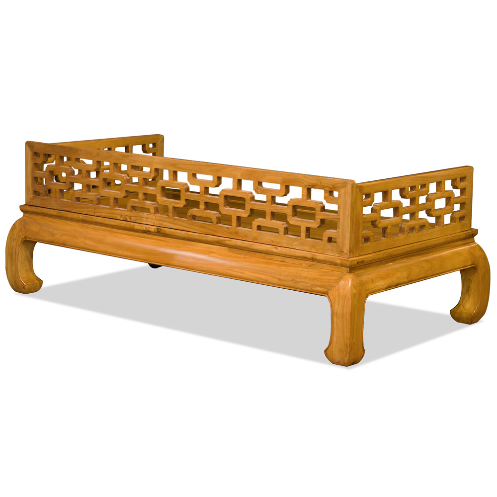 Natural Finish Elmwood Ming Day Bed