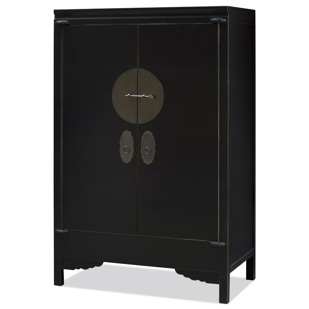 Distressed Black Elmwood Wedding Cabinet