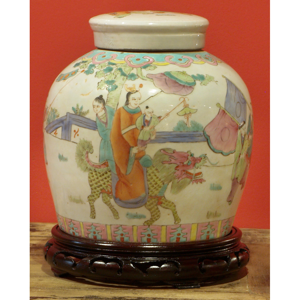 Hand Painted Antique Jar