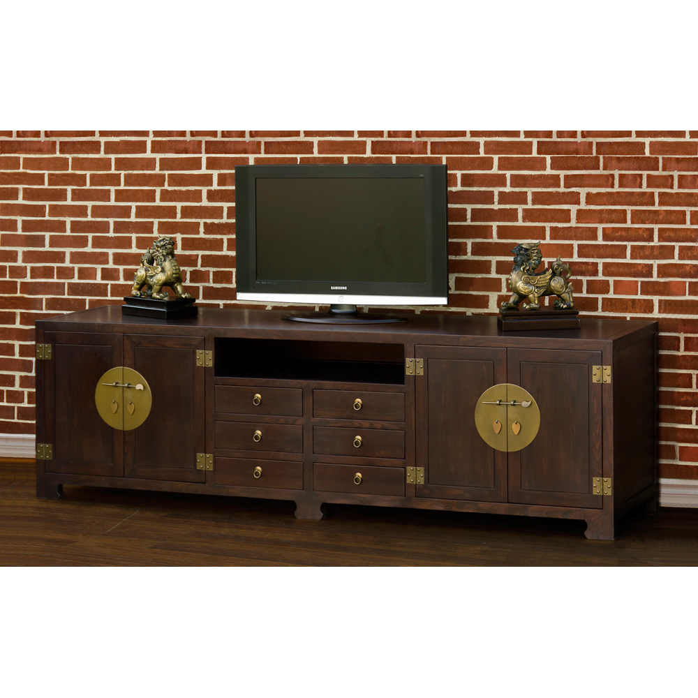 Dark Espresso Elmwood Ming Media Cabinet
