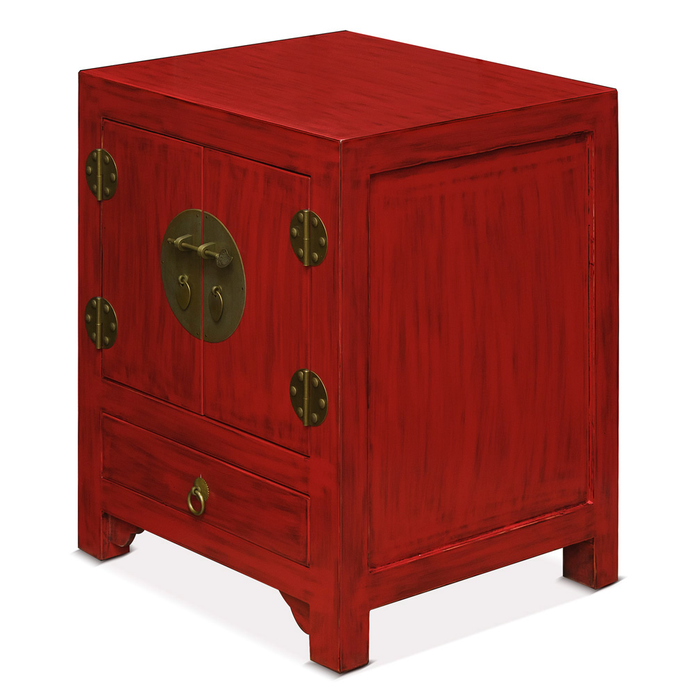 Red Elmwood Ming Cabinet