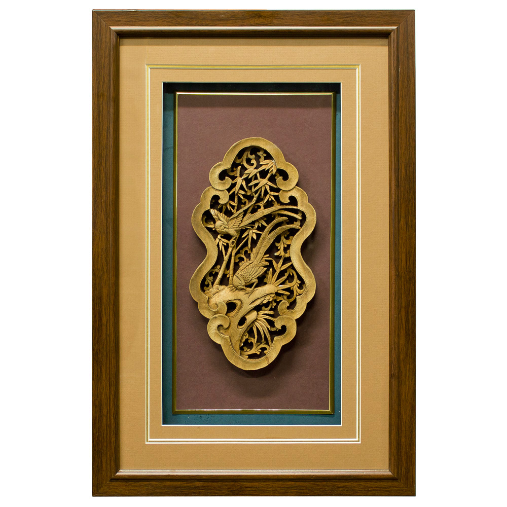 Wooden Carving Shadow Box