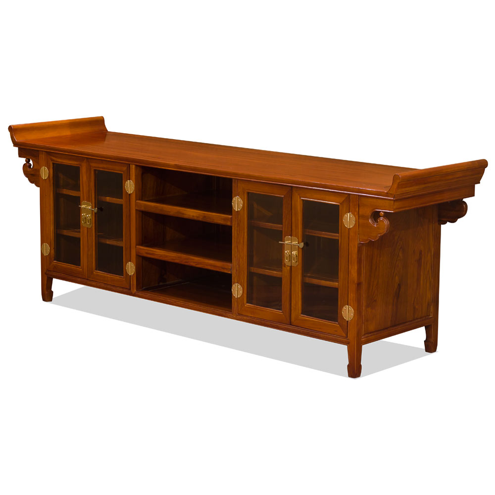 Rosewood Altar Style Media Cabinet