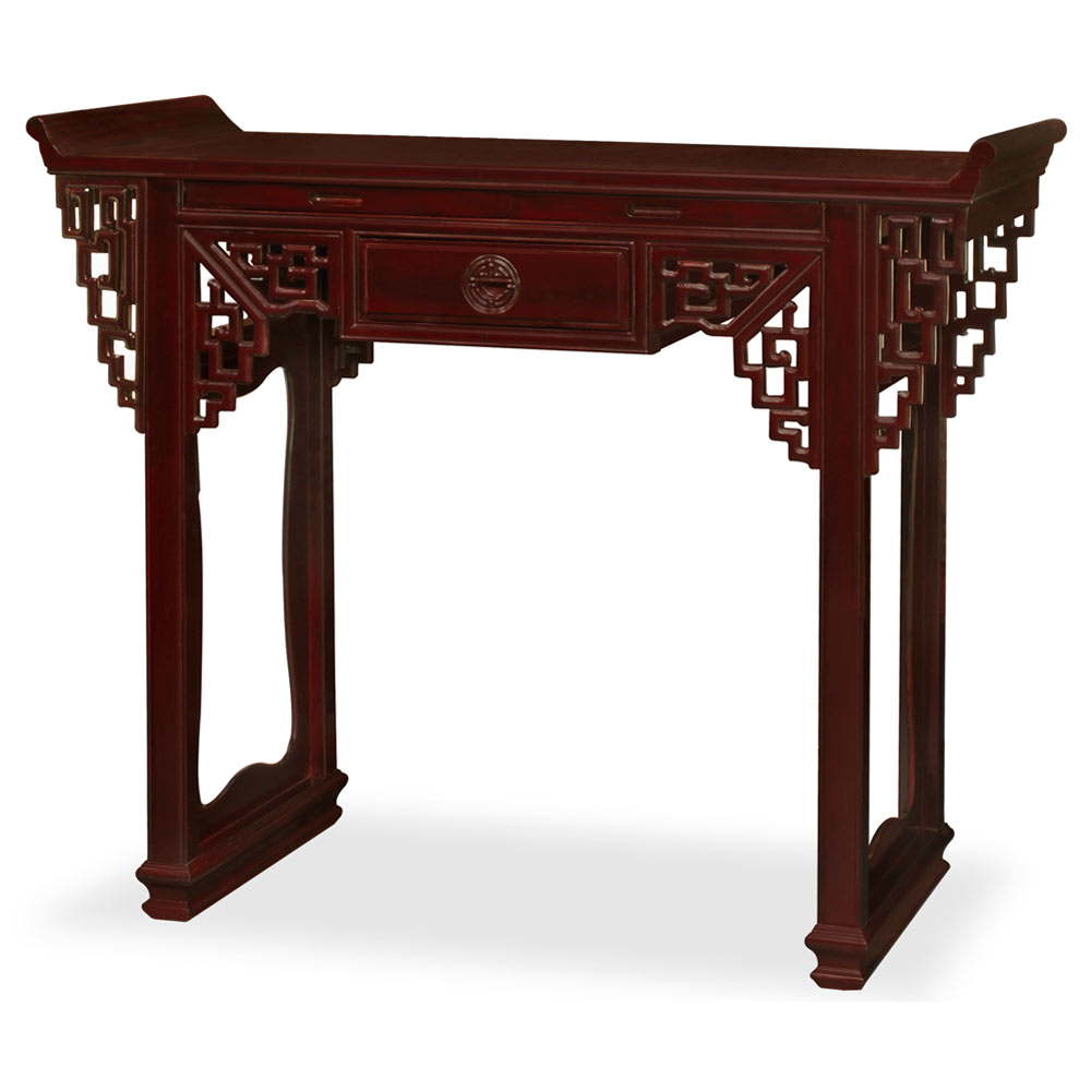 Dark Cherry Rosewood Ming Style Asian Altar Table