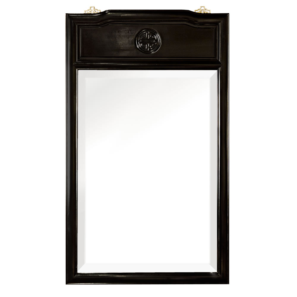 Black Rosewood Longevity Vertical Mirror