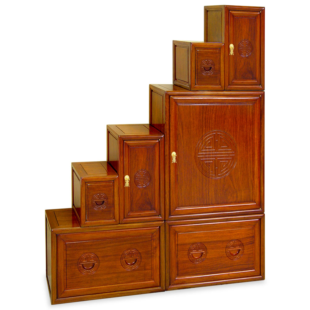 Rosewood Step Tansu Chest