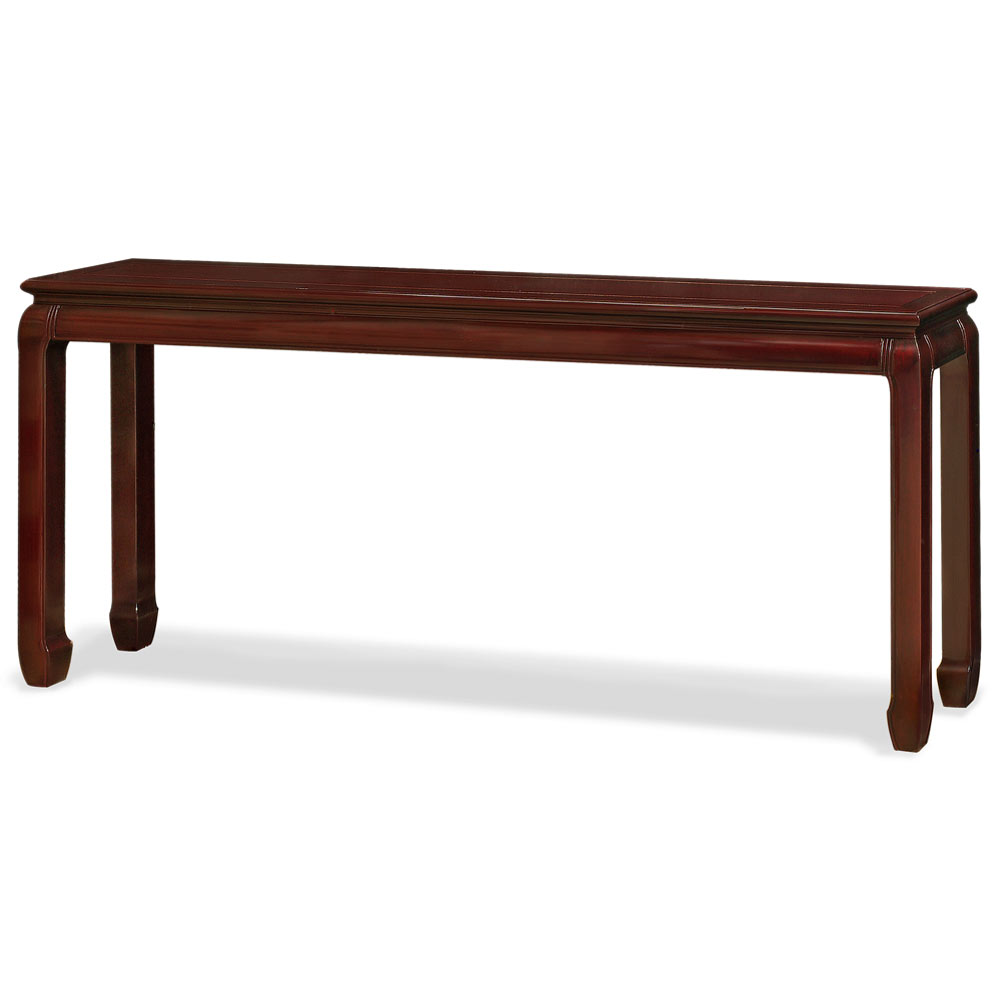 Dark Cherry Rosewood Ming Console Table