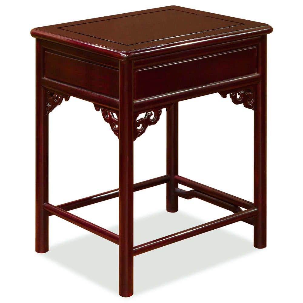 Dark Cherry Rosewood Chinese Ming End Table
