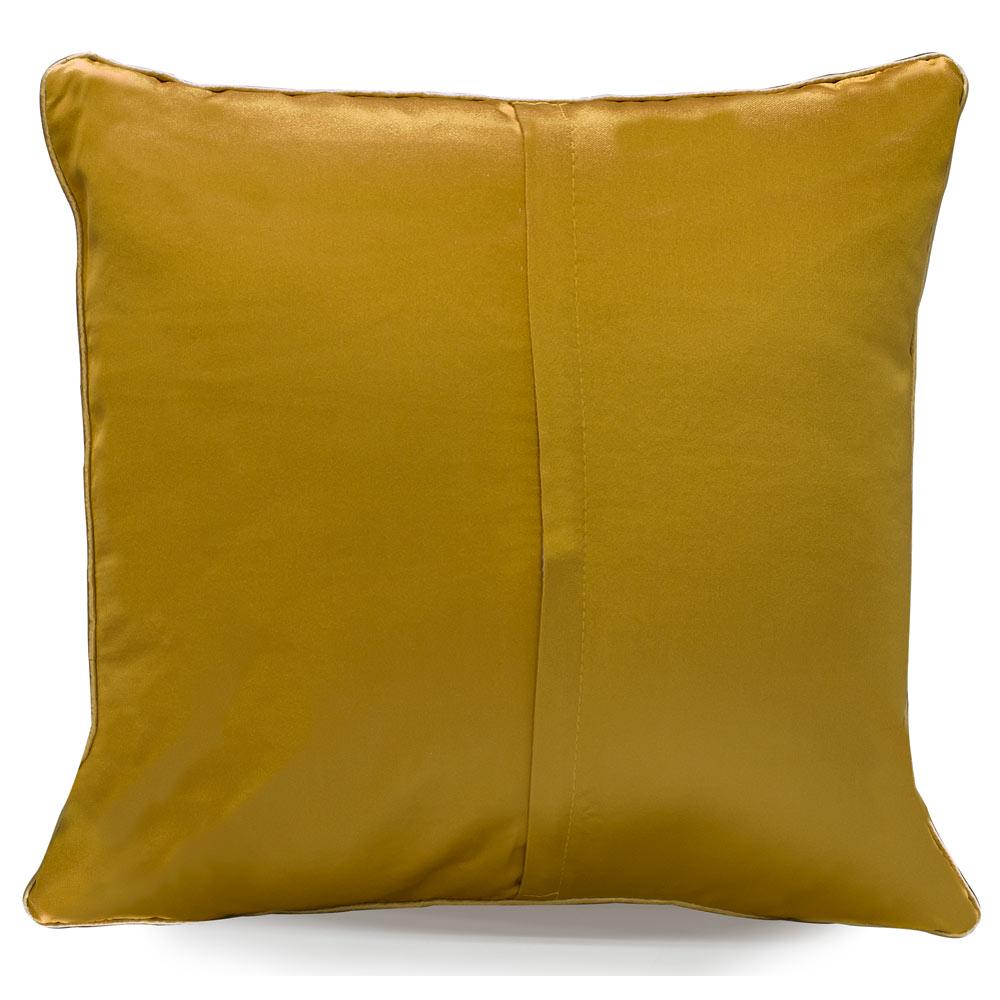 Golden Silk Chinese Longevity Pillow
