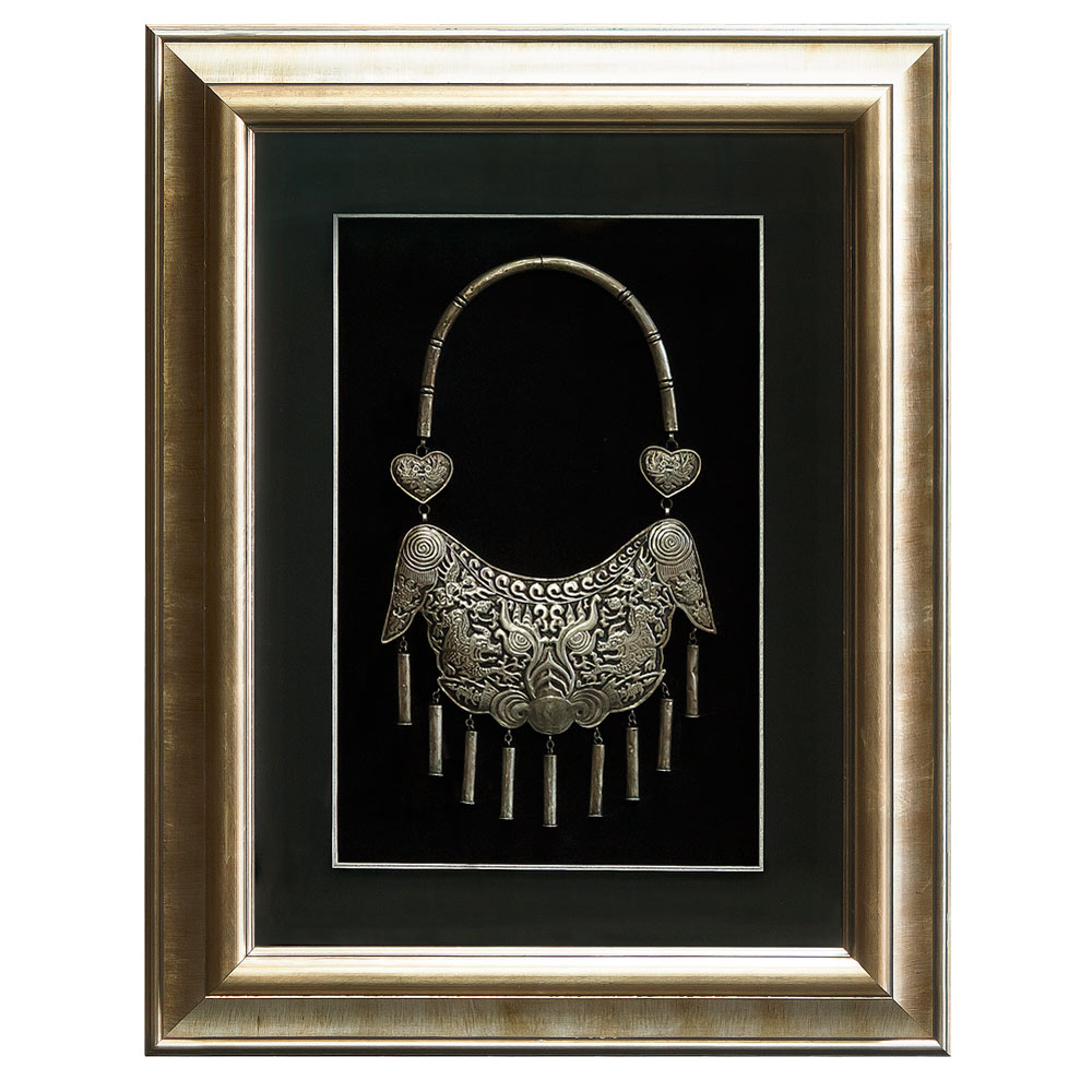 Hand-Forged Yao Silver  Necklace Shadow Box