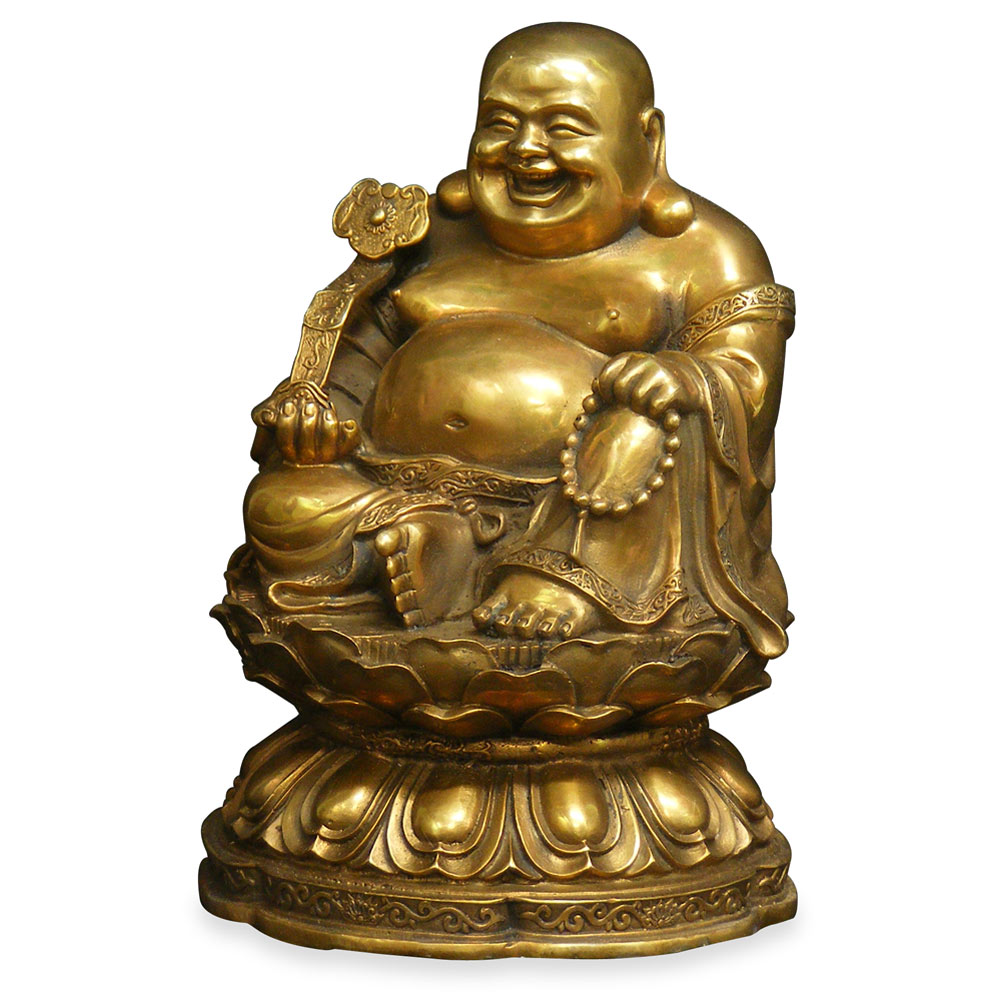 Bronze Laughing Happy Buddha