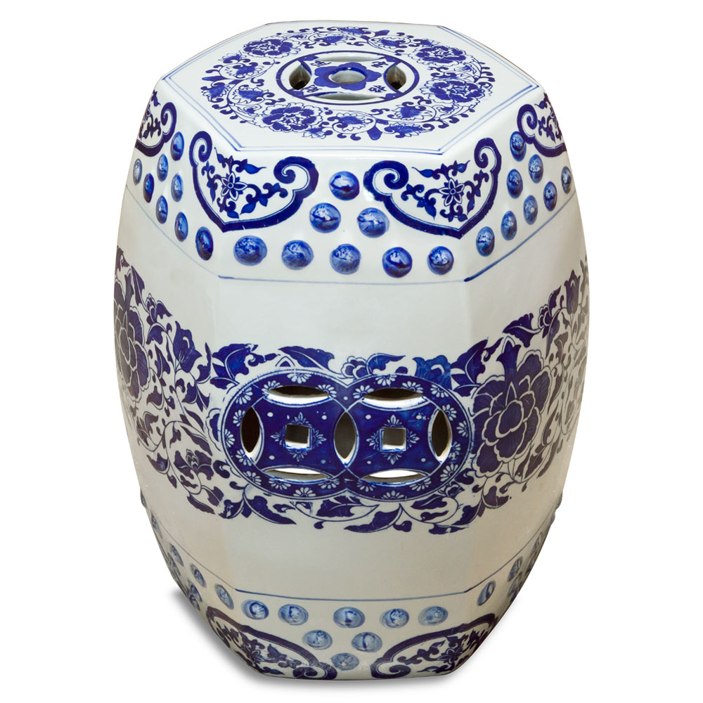 Blue and White Porcelain Temple Vase