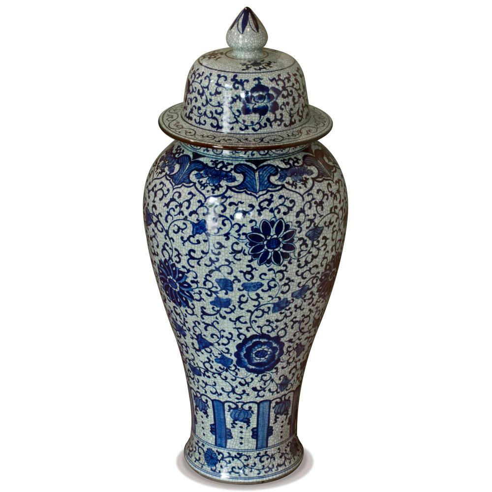 Blue and White Porcelain Imperial Ginger Jar