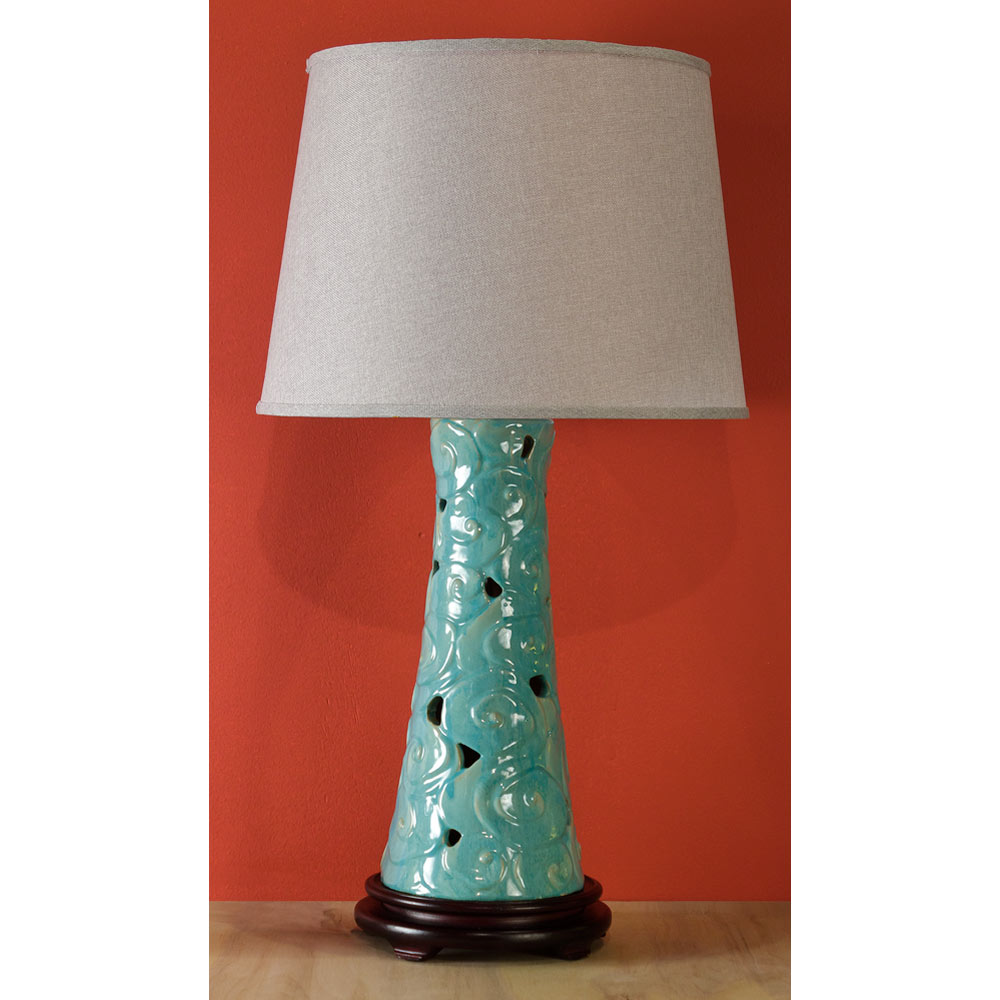 Ceramic Cloud Motif Lamp