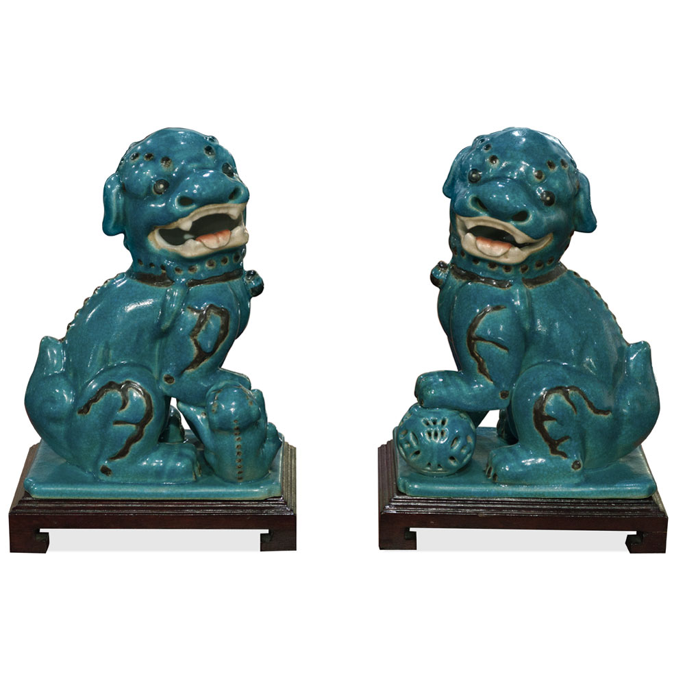 Porcelain Peking Foo Dog (set of 2)