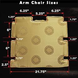 silk dining chair cushion
