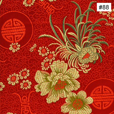 Floral Longevity Design (#88) Monk Chair Cushion