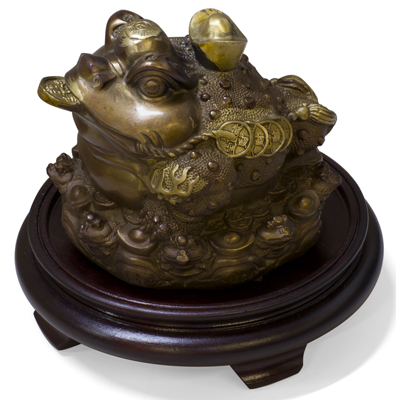 Bronze Lucky Money Toad