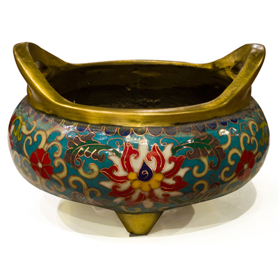 Vintage Cloisonne Incense Burner