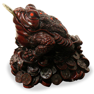 Shou Shan Money Toad Chinese Figurine