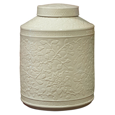 White Porcelain Chinese Tea Jar
