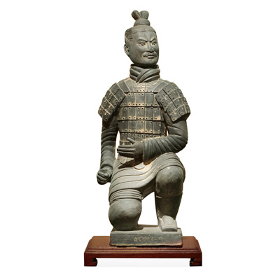 18 Inch Terracotta Kneeling Archer Warrior