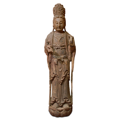 59 Inch Wooden Guanyin Statue