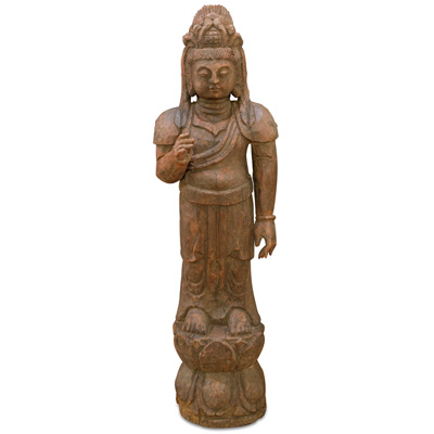 40 Inch Wooden Guanyin Statue