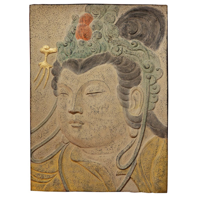 Tang Dynasty Wall Sculpture with Guanyin