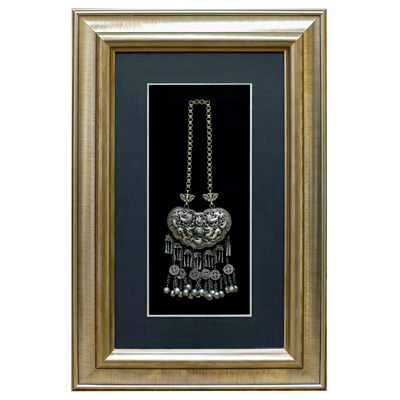 Miao Jewelry Pendant Necklace Shadow Box