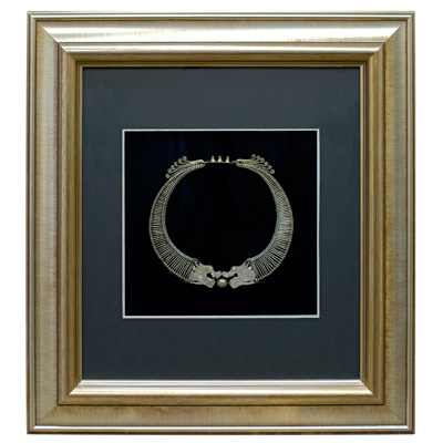 Miao Jewelry Dragon Neck Ring Shadow Box