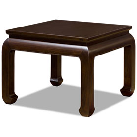 Dark Espresso Elmwood Ming Style Lamp Table