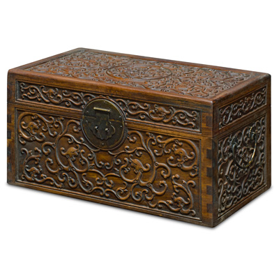 Elmwood Cloud Motif Dowry Chest