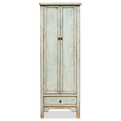 Elmwood Ming Distressed Light Blue Village Armoire