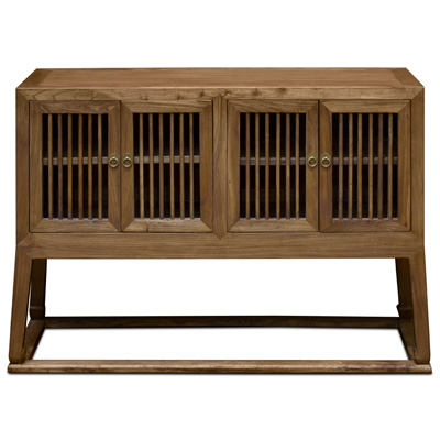 Light Walnut Elmwood Mandarin Peking Sideboard